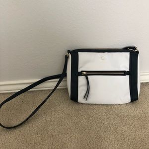 Navy and white Kate spade crossbody